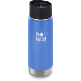 Klean Kanteen Wide Vacuum Insulated Drinkfles Café Cap 2.0 473ml blauw
